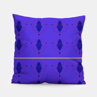 Thumbnail image of Luxury artistic Designers Pillow : Paisleys purple with Gold, Live Heroes