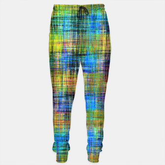 Miniaturka plaid pattern abstract texture in yellow pink blue Sweatpants, Live Heroes