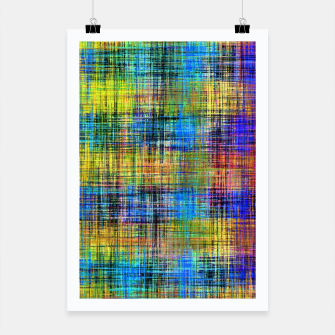 Miniatur plaid pattern abstract texture in yellow pink blue Poster, Live Heroes