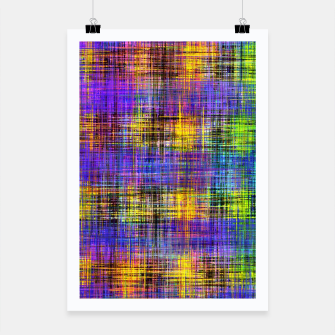 Miniatur plaid pattern abstract texture in purple yellow green Poster, Live Heroes