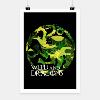 Miniatur Weed and Dragons (Game of Thrones) Poster, Live Heroes