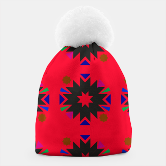 Thumbnail image of Stylish Beanie with zeulige morocco pattern / RED, Live Heroes