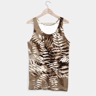 Thumbnail image of Fern, floral art, brown scale, monochrome Tank Top, Live Heroes