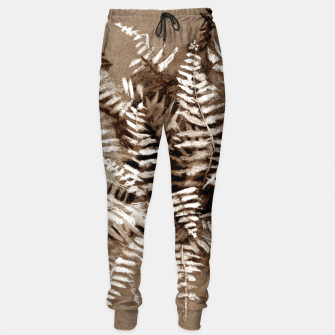 Thumbnail image of Fern, floral art, brown scale, monochrome Sweatpants, Live Heroes