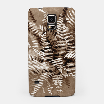Thumbnail image of Fern, floral art, brown scale, monochrome Samsung Case, Live Heroes