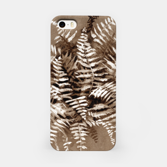 Thumbnail image of Fern, floral art, brown scale, monochrome iPhone Case, Live Heroes