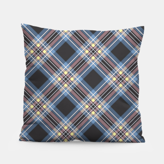 Miniaturka Tartan blue brown , black  Pillow, Live Heroes