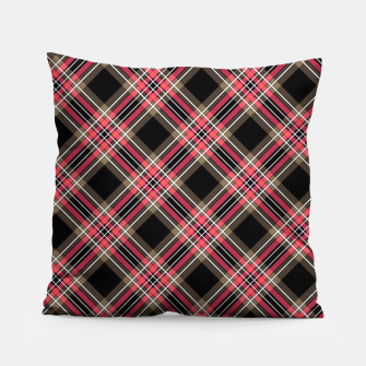 Miniaturka Tartan red, brown Pillow, Live Heroes