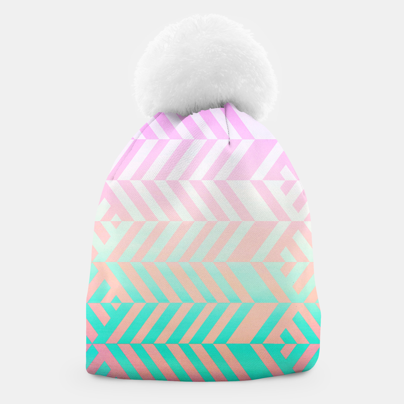 Image of Chevron pattern Beanie - Live Heroes