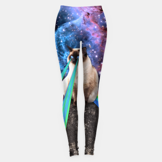 Thumbnail image of SIAMESE LASER CAT Leggings, Live Heroes