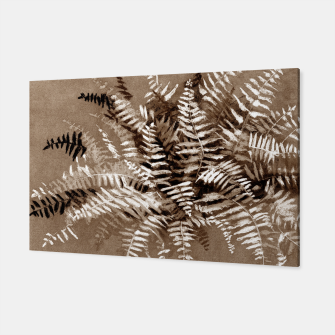 Thumbnail image of Fern, floral art, brown scale, monochrome Canvas, Live Heroes