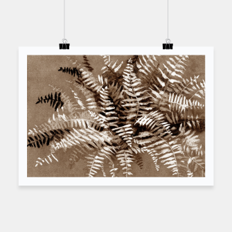 Thumbnail image of Fern, floral art, brown scale, monochrome Poster, Live Heroes
