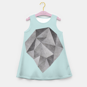 Thumbnail image of Gray stone Girl's Summer Dress, Live Heroes