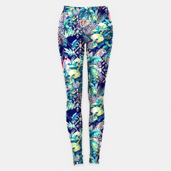 Thumbnail image of Tribal and leopards in the rainforest Leggings, Live Heroes