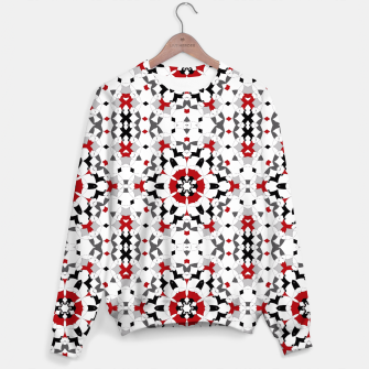 Miniaturka Ornament red , black , whitehite , red and black , pattern , polygon Sweater, Live Heroes