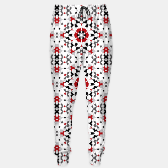 Miniaturka Ornament red , black , whitehite , red and black , pattern , polygon Sweatpants, Live Heroes