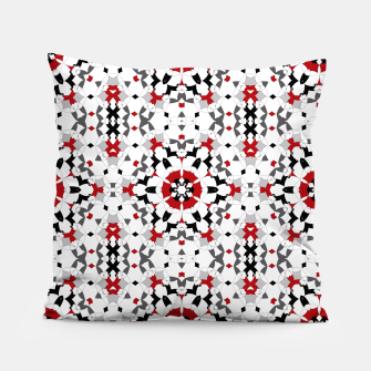 Miniaturka Ornament red , black , whitehite , red and black , pattern , polygon Pillow, Live Heroes