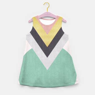 Thumbnail image of Fashion and golden pattern Girl's Summer Dress, Live Heroes