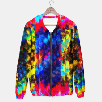 Miniaturka psychedelic geometric painting abstract pattern in red pink blue yellow Hoodie, Live Heroes