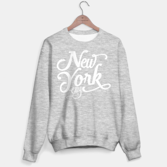 Thumbnail image of New York city typography white Sweater regular, Live Heroes