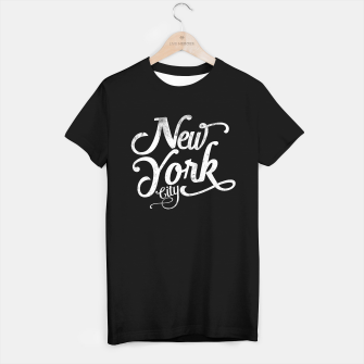 Thumbnail image of New York city typography white T-shirt regular, Live Heroes