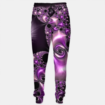Thumbnail image of Silken Purple Swirling Fractal  Sweatpants, Live Heroes