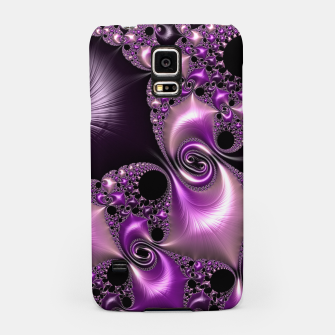 Thumbnail image of Silken Purple Swirling Fractal  Samsung Case, Live Heroes