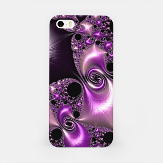 Thumbnail image of Silken Purple Swirling Fractal  iPhone Case, Live Heroes