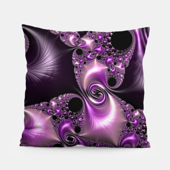 Thumbnail image of Silken Purple Swirling Fractal  Pillow, Live Heroes