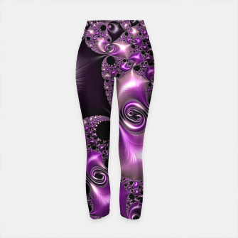 Thumbnail image of Silken Purple Swirling Fractal  Yoga Pants, Live Heroes