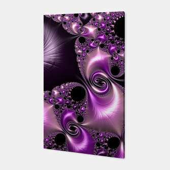 Thumbnail image of Silken Purple Swirling Fractal  Canvas, Live Heroes