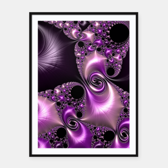 Thumbnail image of Silken Purple Swirling Fractal  Framed poster, Live Heroes