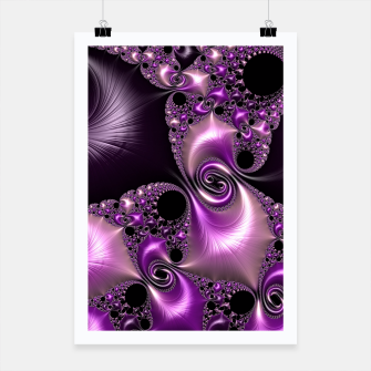Thumbnail image of Silken Purple Swirling Fractal  Poster, Live Heroes