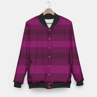 Miniaturka Striped plum Baseball Jacket, Live Heroes