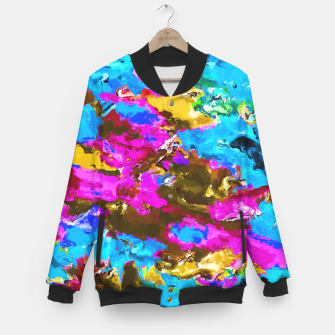 Miniaturka psychedelic splash painting abstract texture in blue pink yellow brown green Baseball Jacket, Live Heroes