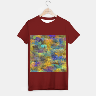 Thumbnail image of psychedelic painting abstract pattern in yellow brown blue T-shirt regular, Live Heroes