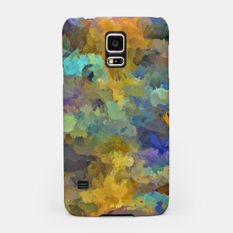 Thumbnail image of psychedelic painting abstract pattern in yellow brown blue Samsung Case, Live Heroes