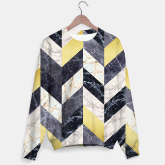 Miniaturka Marble and gold pattern Sweater, Live Heroes