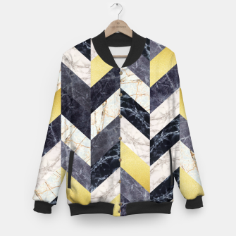 Miniaturka Marble and gold pattern Baseball Jacket, Live Heroes