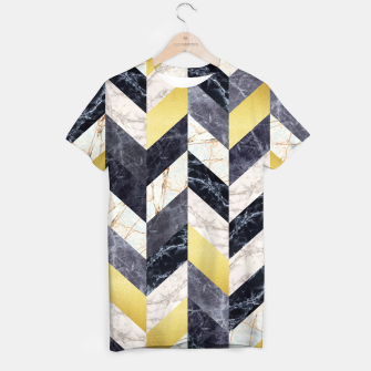 Thumbnail image of Marble and gold pattern T-shirt, Live Heroes