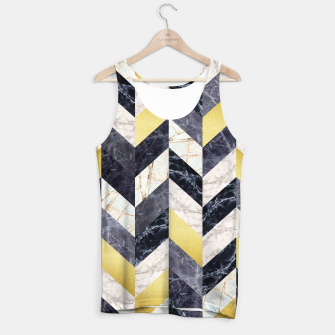 Miniaturka Marble and gold pattern Tank Top, Live Heroes