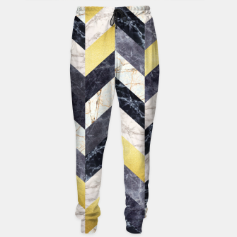 Miniaturka Marble and gold pattern Sweatpants, Live Heroes