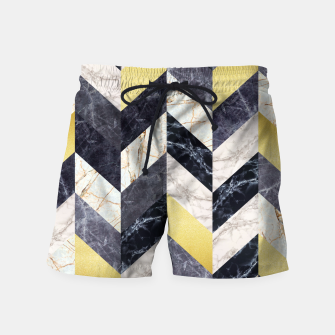 Thumbnail image of Marble and gold pattern Swim Shorts, Live Heroes