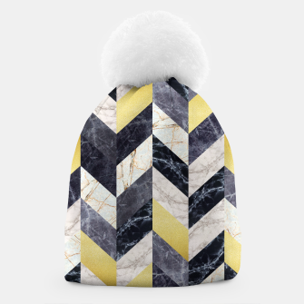 Thumbnail image of Marble and gold pattern Beanie, Live Heroes