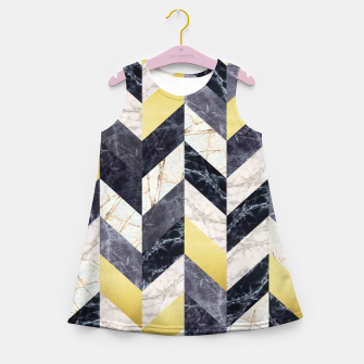 Thumbnail image of Marble and gold pattern Girl's Summer Dress, Live Heroes