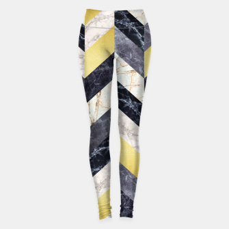 Thumbnail image of Marble and gold pattern Leggings, Live Heroes