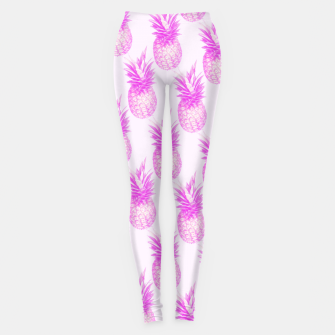 Thumbnail image of Tropical pink pattern Leggings, Live Heroes