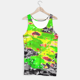 Miniaturka psychedelic splash painting abstract texture in in green yellow black Tank Top, Live Heroes