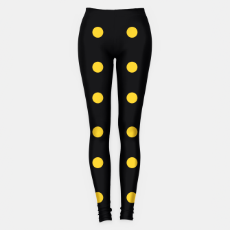 Thumbnail image of Artistic Leggings black with Yellow Dots, Live Heroes