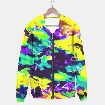 Miniaturka psychedelic splash painting abstract texture in yellow blue green purple Hoodie, Live Heroes